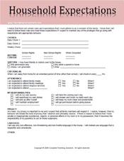Parent Teen Contract >> Teen Behavior Contracts